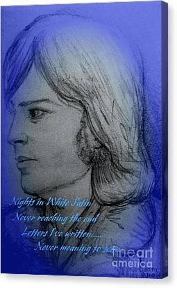 Nights In White Satin Canvas Print