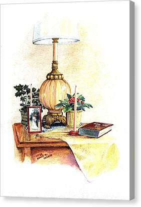Nightstand Canvas Print by Duane R Probus