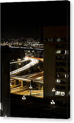 Nighttime Commute  Canvas Print by Andrew Pacheco