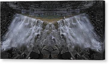 Nighttime Water Tumble Canvas Print by Betsy Knapp