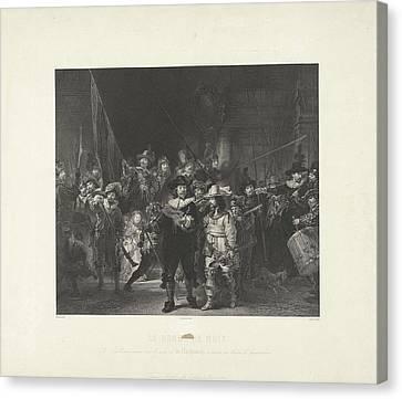 Nightwatch, Adolphe Mouilleron Canvas Print