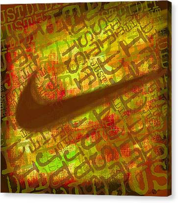 Nike Just Did It Gold Canvas Print by Tony Rubino