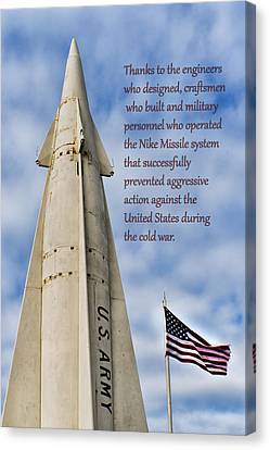 Nike Missile Thanks Canvas Print