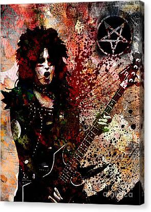 Nikki Sixx - Motley Crue  Canvas Print by Ryan Rock Artist