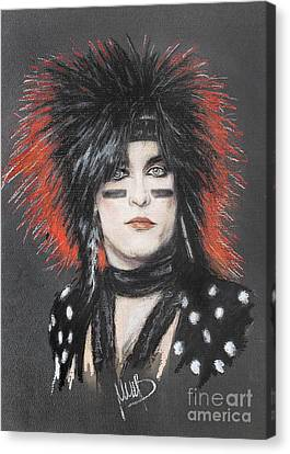 Nikki Sixx Canvas Print by Melanie D