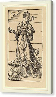 Niklaus Manuel I, The Wise Virgin, Swiss Canvas Print by Litz Collection