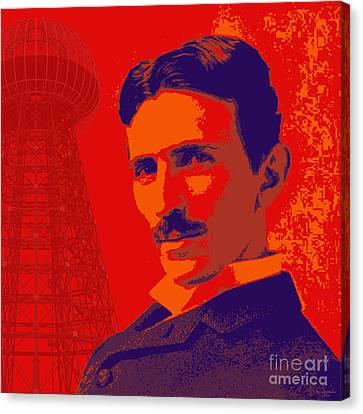 Nikola Tesla #1 Canvas Print by Jean luc Comperat