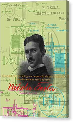 Nikola Tesla #3 Canvas Print by Jean luc Comperat