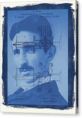 Nikola Tesla Canvas Print by Dan Sproul