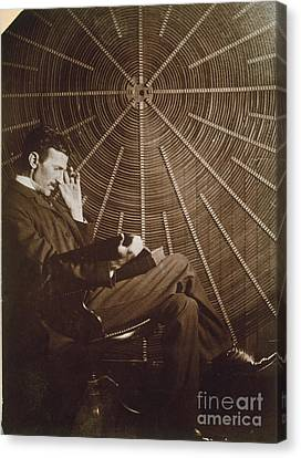Nikola Tesla Canvas Print by Granger