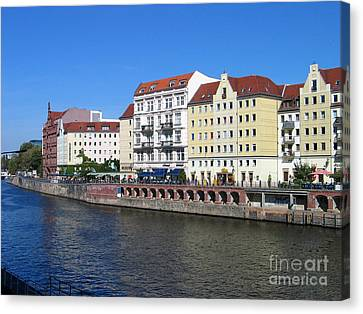 Nikolaiviertel Canvas Print by Art Photography