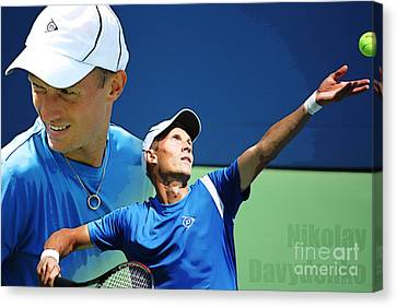 Nikolay Davydenko Canvas Print by Nishanth Gopinathan
