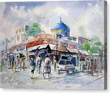 Nila Gumbad Canvas Print by M Kazmi
