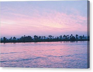 Canvas Print featuring the photograph Nile Sunset by Cassandra Buckley