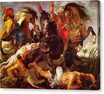 Nilpferdjagd Canvas Print by Peter Paul Rubens