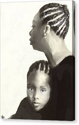 Nina And Lisa Simone Canvas Print