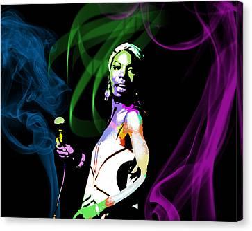 Nina Simone Canvas Print by Michael Jadach