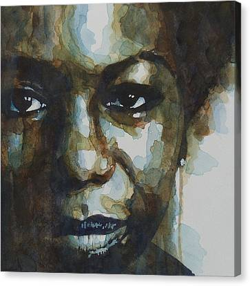 Nina Simone Canvas Print by Paul Lovering