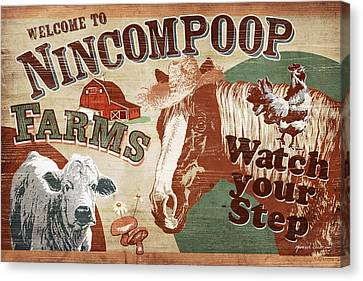 Nincompoop Farms Canvas Print by JQ Licensing
