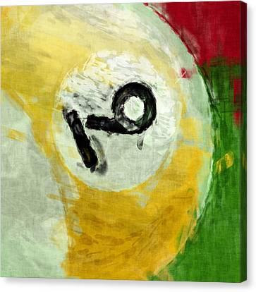 Nine Ball Billiards Abstract Canvas Print