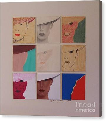 Nine Ladies Lolling Canvas Print