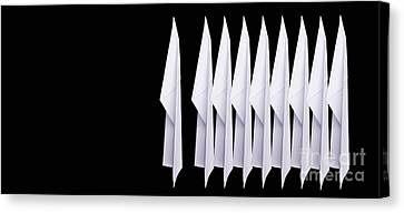 Paper Airplanes Canvas Print - Nine Paper Airplanes by Edward Fielding