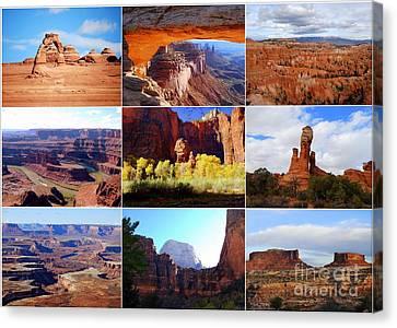 Nine Utah Landmarks Canvas Print