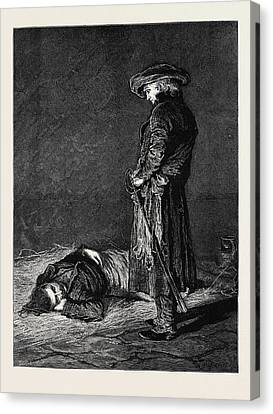 Ninety Three The Dungeon Cimourdain Advanced As Noiselessly Canvas Print by English School