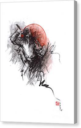 Ninja - Martial Arts Styles Painting Canvas Print by Mariusz Szmerdt
