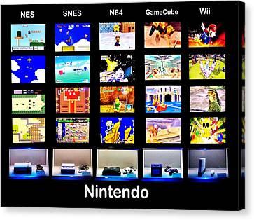 Nintendo History Canvas Print by Benjamin Yeager