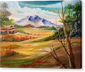 Nipa Hut 2  Canvas Print by Remegio Onia