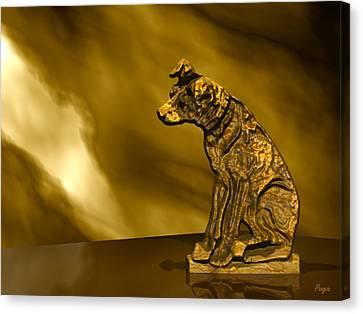 Nipper In Bronze Canvas Print by John Pangia
