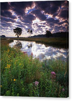 Nippersink Sunrise Canvas Print by Ray Mathis