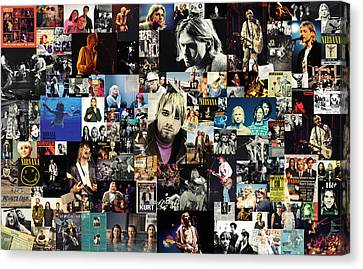 Fighter Canvas Print - Nirvana Collage by Taylan Apukovska