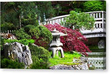 Nishinomiya Japanese Garden Canvas Print by Chris Heitstuman