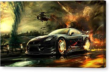 Nissan G T R Canvas Print by Movie Poster Prints