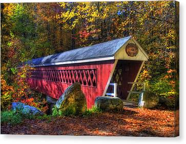 Nissitissit Bridge Brookline Nh Canvas Print by Joann Vitali