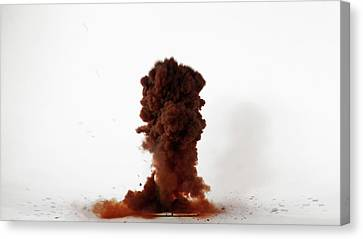 Nitrogen Triiodide Detonating (3 Of 4) Canvas Print