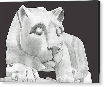 Nittany Lion Statue Canvas Print