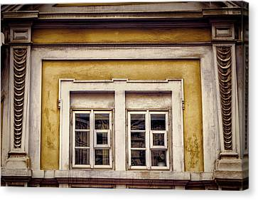 Nitty Gritty Window Canvas Print by Joan Carroll