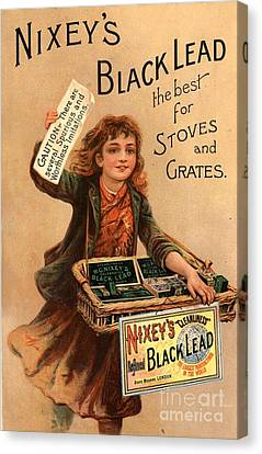 Nixey�s 1890s Uk Black Lead  Products Canvas Print by The Advertising Archives