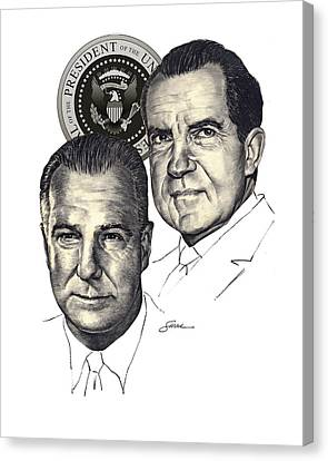 Nixon And Agnew Canvas Print by Harold Shull