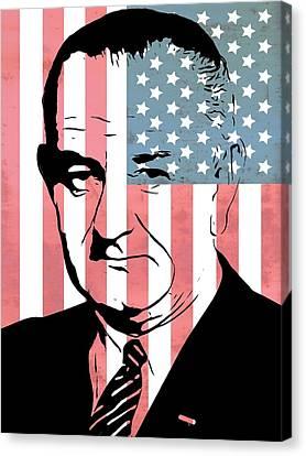 Senate Canvas Print - Lyndon Johnson by Dan Sproul