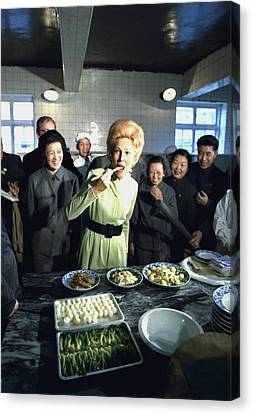 Nixon In China. Pat Nixon Samples Canvas Print