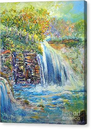 Canvas Print featuring the painting Nixon's A Happy Day by Lee Nixon