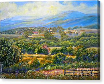 Nixon's A Scenic View On Jacksontown Road 2 Canvas Print