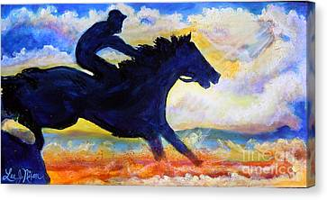 Canvas Print featuring the painting Nixon's The Race Is On No.2 by Lee Nixon