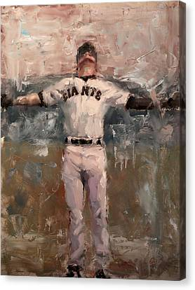San Francisco Giants Canvas Print - Nlcs Rain by Darren Kerr
