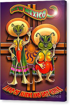New Mexico Land Of Aliens And Hot Chile Canvas Print