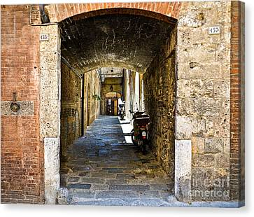 No 155 And 157 - Siena Canvas Print